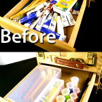 How to Organize Art Supplies with Plastic Containers