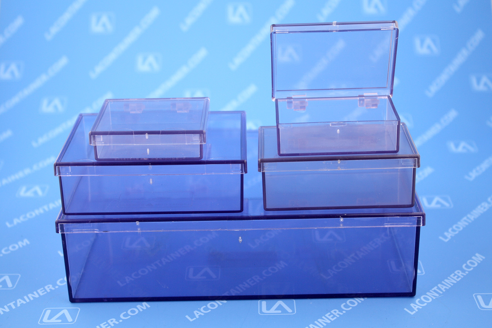 Acrylic Box Lid : Laboxx hinged lid esd plastic boxes lacontainer inc