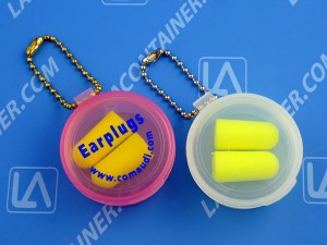 Ball Chains Ear Plug Containers