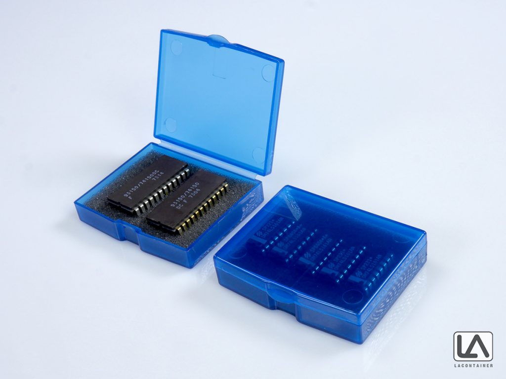 Small Square BAS-PP ESD Plastic Boxes With Protective Foam Inserts