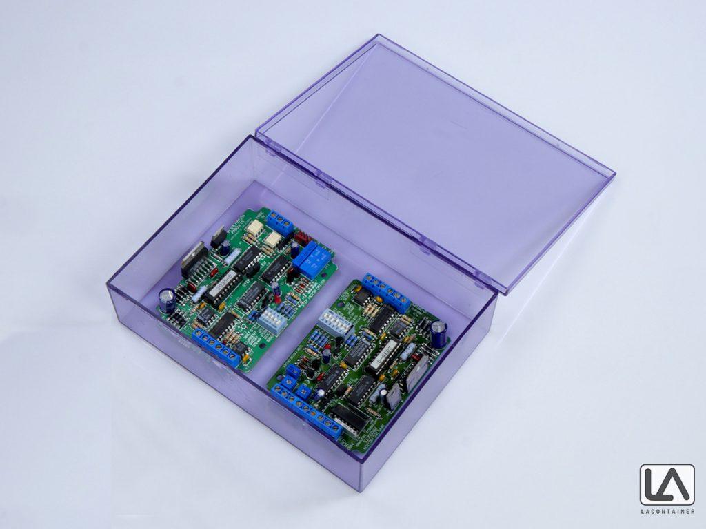 Blue Anti-Static Acrylonitrile Butadiene Styrene Plastic Box With Lid