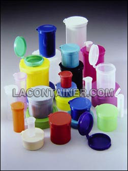 Hinged Lid Containers in assorted colors